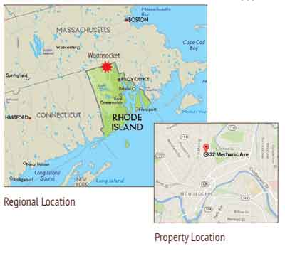 Location of Woonsocket Industrial Complex